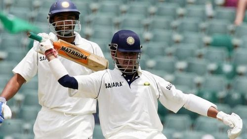 s sreesanth dancing after hitting six to andre nel