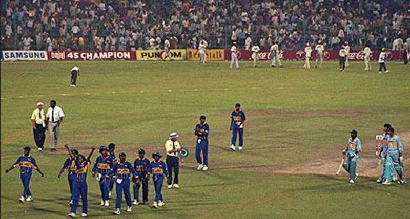 Sri Lanka after their win against India in the 1996 World Cup semi-final