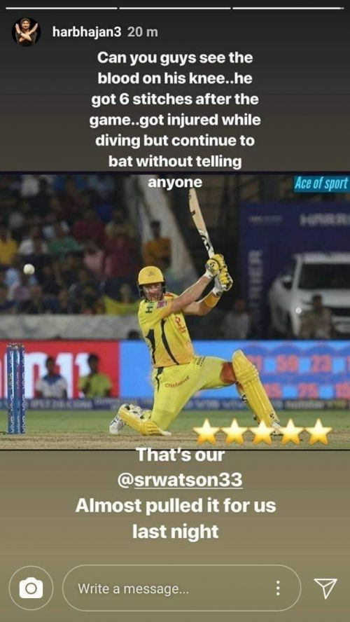 Harbhajan Singh's Instagram story (Source: Instagram)