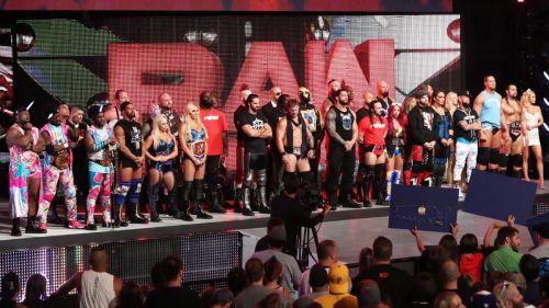 The Raw locker room