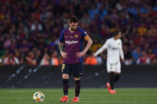 Lionel Messi failed to inspire Barcelona to Copa del Rey truimph.