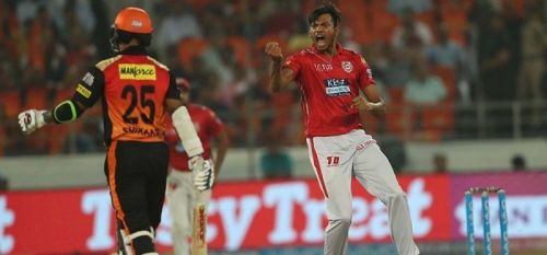 Ankit Rajpoot has picked 5 / 16 against hyderabad in last ipl season