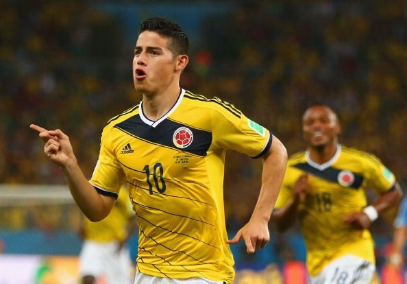 Rodríguez starred for Colombia at the 2014 FIFA World Cup Brazil