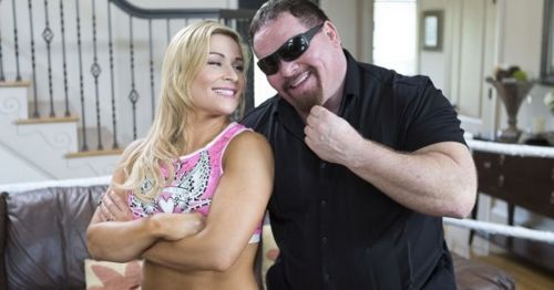 """Natalya with her father,Jim """"The Anvil"""" Neidhart"""