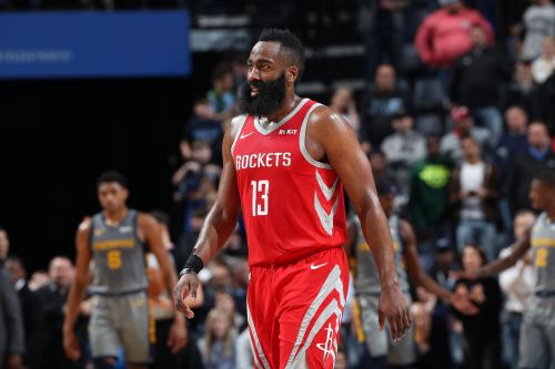 James Harden tallied 57 points but the Grizzlies took the win in overtime