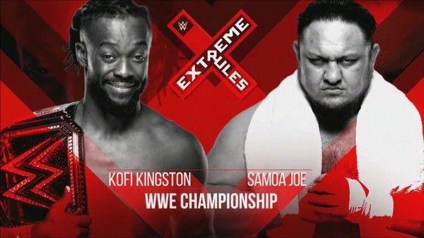 The WWE Champion vs The Samoan Submission Machine
