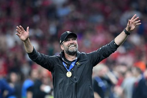 This is the champion of Liverpool, Jurgen Klopp.