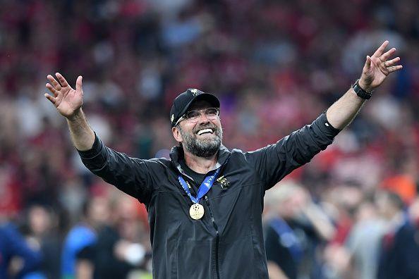 This is the champion of Liverpool, Jurgen Klopp.