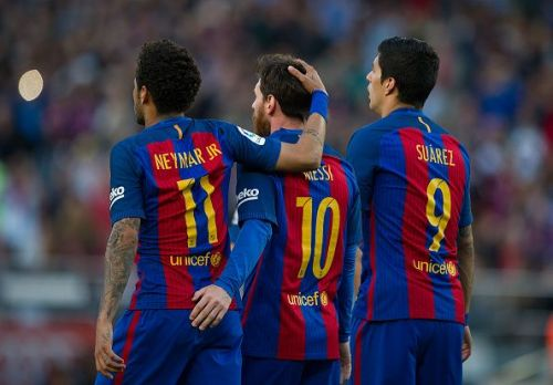 Neymar formed an excellent partnership with Messi and Suarez