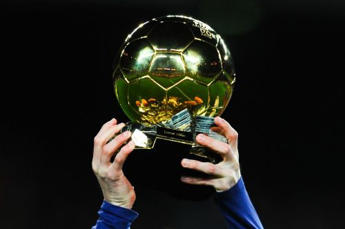 The coveted Ballon d'Or trophy