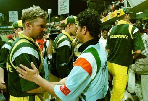Shane Warne and Sachin Tendulkar