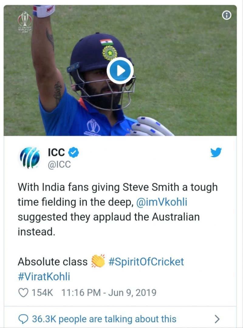 Indian Cricket Team - Virat Kohli says indian audience to encourage Steve Smith #spiritofcricket,#viratkohli,@imVkohli