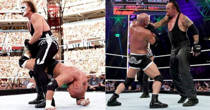 The Game and Sting ended the Monday Night War in 2014, whilst Goldberg and Undertaker had a botch-fest in 2019.