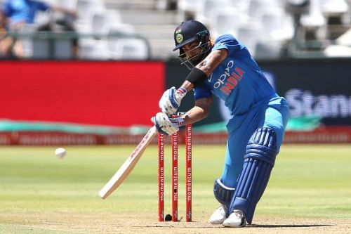 Skipper Virat Kohli crunching a shot during an ODI between India and South Africa