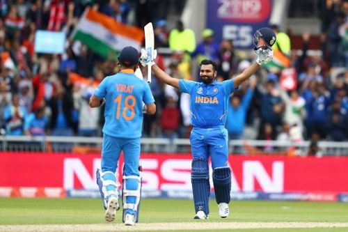 Rohit Sharma has the highest score in India vs Pakistan World Cup clashes