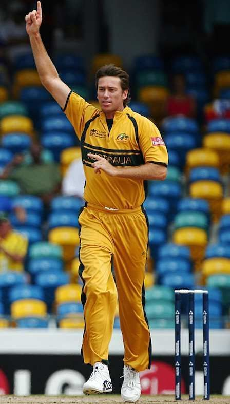 Glenn McGrath after taking 7/15 against Namibia in a World Cup match.