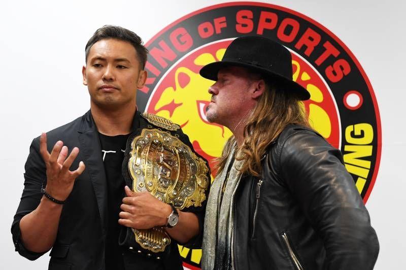 Chris Jericho stares down Kazuchika Okada