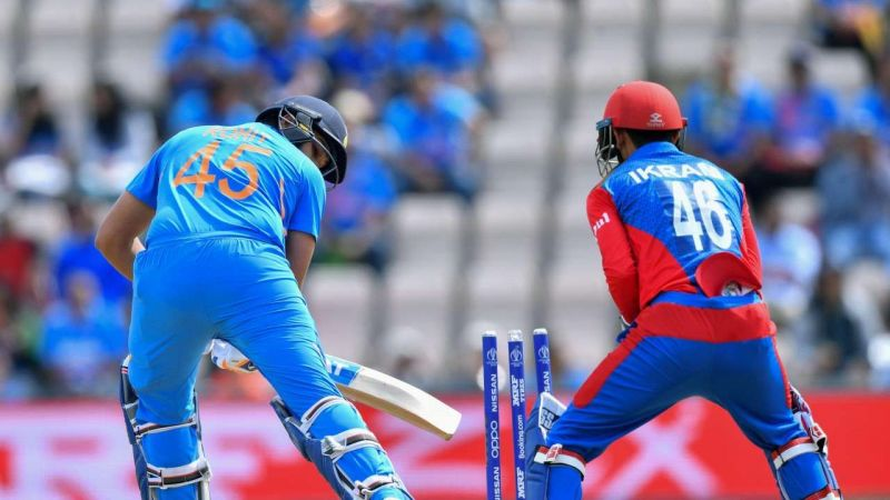 Rohit Sharma was dismissed early in the innings