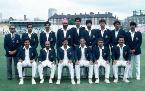 वर्ल्ड कप 1983 के समय भारतीय टीम