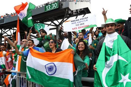 India vs Pakistan always gets the fans all pumped up