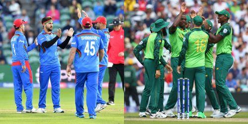 अफगानिस्तान और दक्षिण अफ्रीका की टीमें