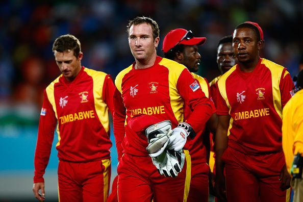 Zimbabwe team during the 2015 ICC Cricket World Cup
