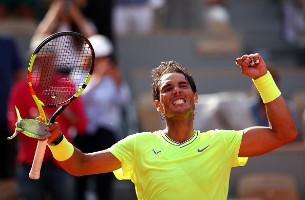 2019 French Open - Day Eight 2019 French Open - Rafael Nadal in action in his Round of 16 clash