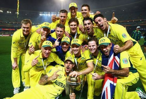 Australia has achieved a 100% win percentage twice in the World Cups