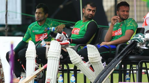 Shakib Al Hasan, Mushfiqur Rahim and Tamim Iqbal