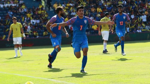 Thapa's winner against Thailand helped India secure the third position (Image Courtesy: ISL)
