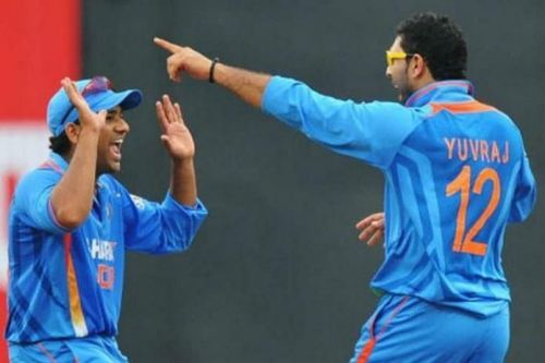 Rohit Sharma and Yuvraj Singh