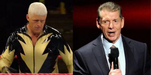 Goldust aka Dustin Rhodes and Vince McMahon