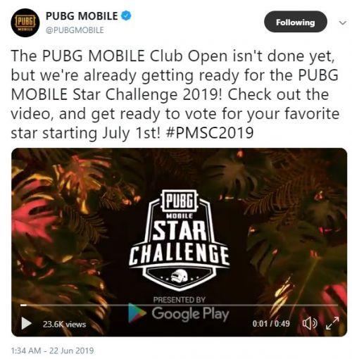 PUBG Mobile Reveals Star Challenge