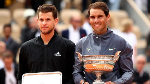 Dominic Thiem Rafael Nadal - cropped
