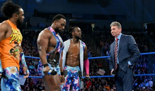 Vince McMahon with The New Day