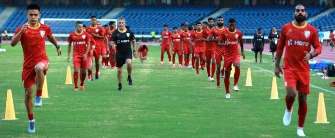 Indian team in training