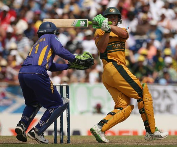Adam Gilchrist, one of the superstars of the World Cup.