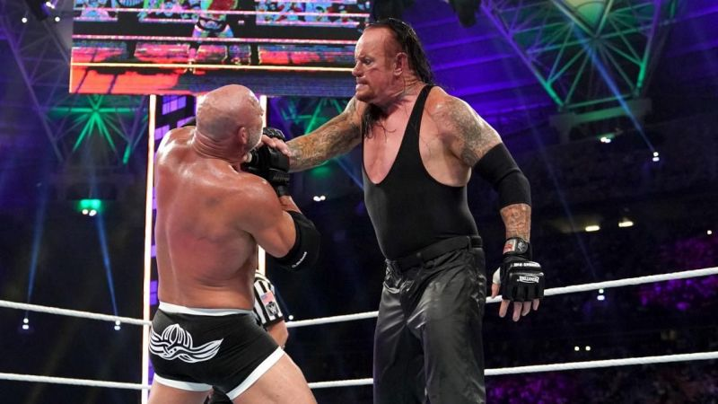 The Undertaker and Goldberg put on a dismal performance in the ring that left a lot to be desired