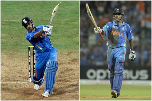MS Dhoni (left) and Gautam Gambhir (right), the two heroes of India's 2011 World Cup win