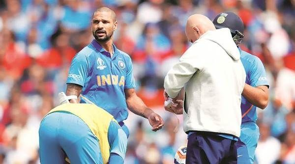 Dhawan ruled out of tournament due to thumb injury