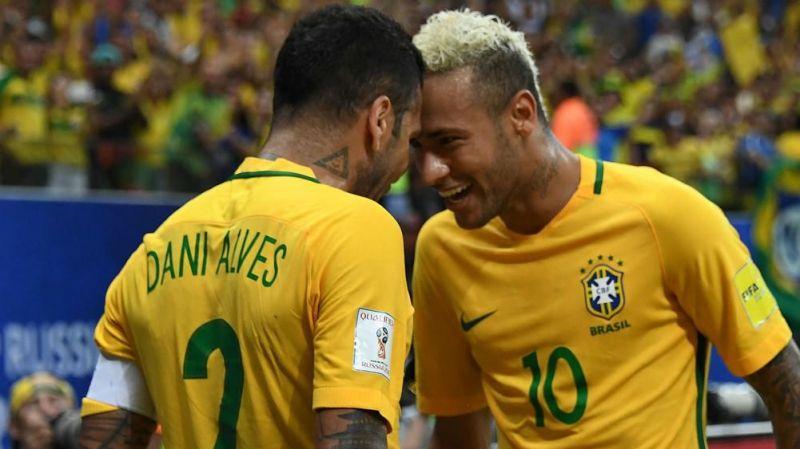 Dani Alves replaced Neymar as captain of Brazil for the Copa America