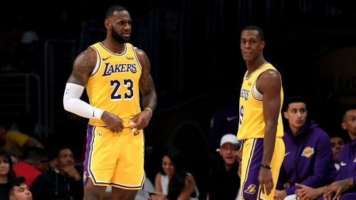 Rajon Rondo, right, and LeBron James