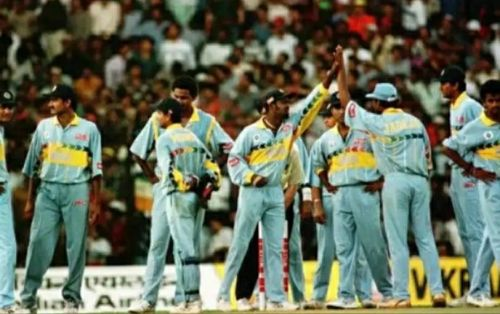 1996 - Light blue with Yellow