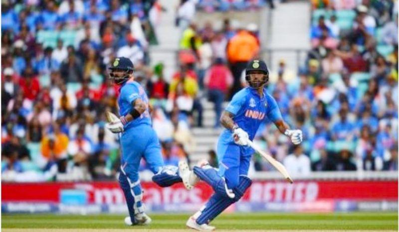 ICC CRICKET WORLD CUP 2019 - INDIA vs AUSTRALIA, VIRAT KOHLI AND SHIKAR DHAWAN