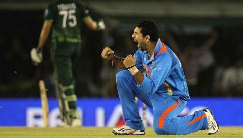 Image result for yuvraj singh bowling