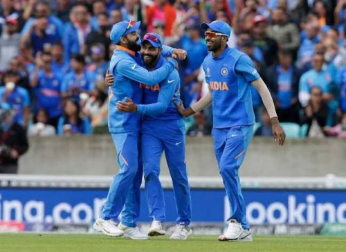 The Indian players at World Cup 2019