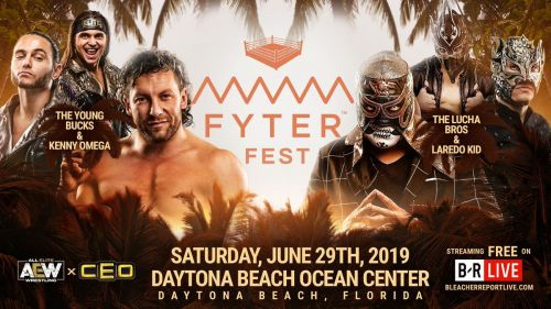 The rivalry between the Young Bucks and the Lucha Brothers sees a third member added to each team at Fyter Fest.