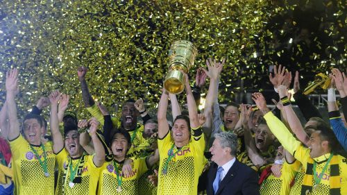 Klopp won the DFB Pokal with Dortmund before losing his next 6 cup finals