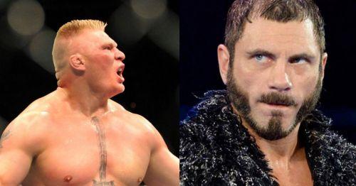 Brock Lesnar and Austin Aries