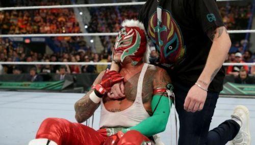 Rey Mysterio injured himself during WrestleMania 35